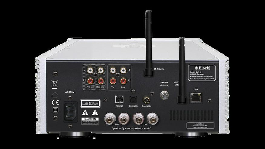 Bild 3: Block CVR-50 CD-Internet-Receiver Bluetooth