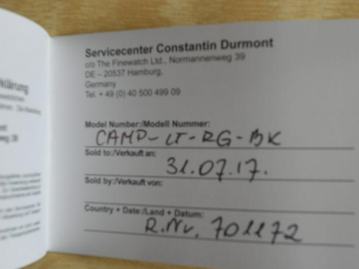 Bild 4: Constantin Durmont Swiss Made Ronda 8040.N neu