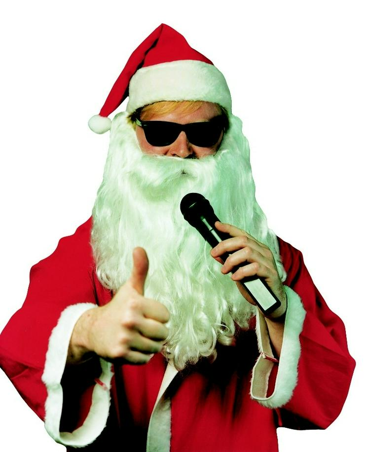 Singender Weihnachtsmann für Weihnachtsfeiern