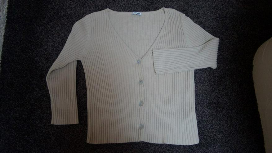 Strickjacke, Gr.48/50, beige, NEU, womans fashn