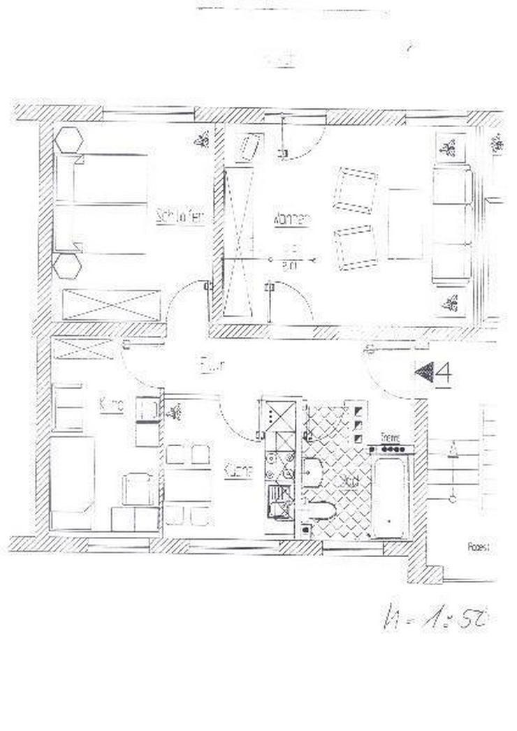 schicke 3-Zimmerwohnung mit Balkon Nähe Nordseepassage - Wohnung mieten - Bild 1