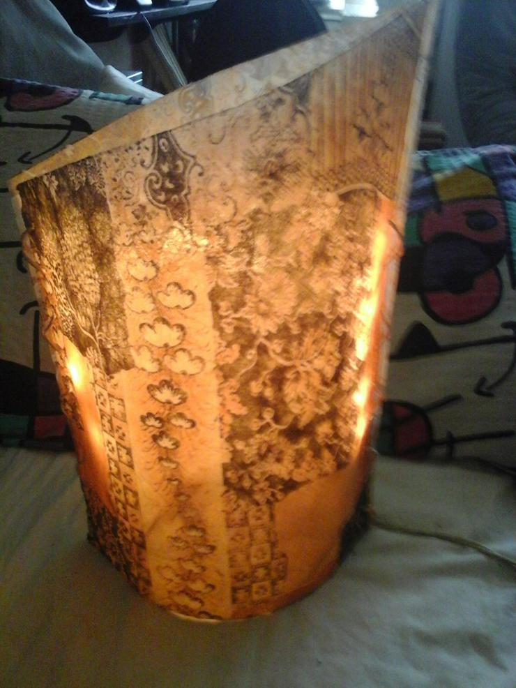 Stehlampe H  32 cm,  B 22 cm, T 14 cm - Bild 1