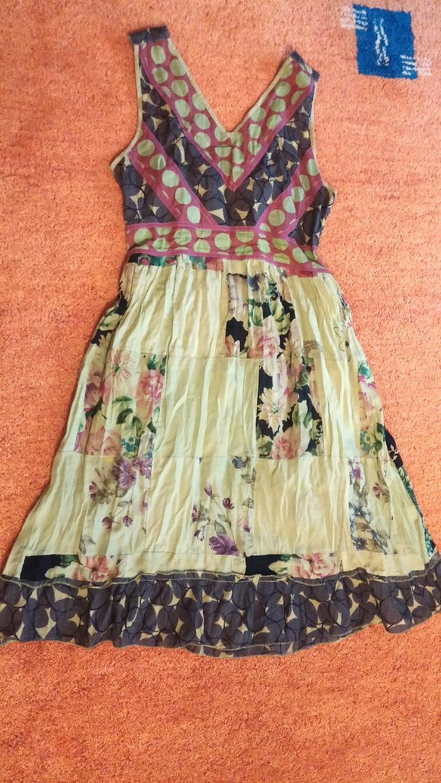 NEU Damen Kleid Sommer Patchwork Gr. S ENJOY
