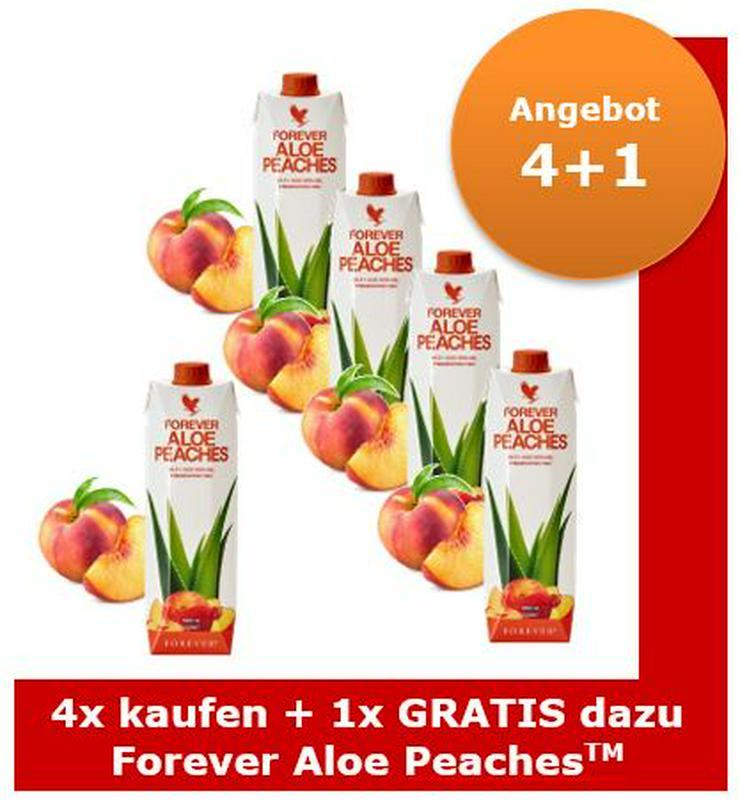 Forever Aloe Peaches™ ab 26.99€/Liter Staffelpreis   15% Rabatt auf alles   Versand: portofrei