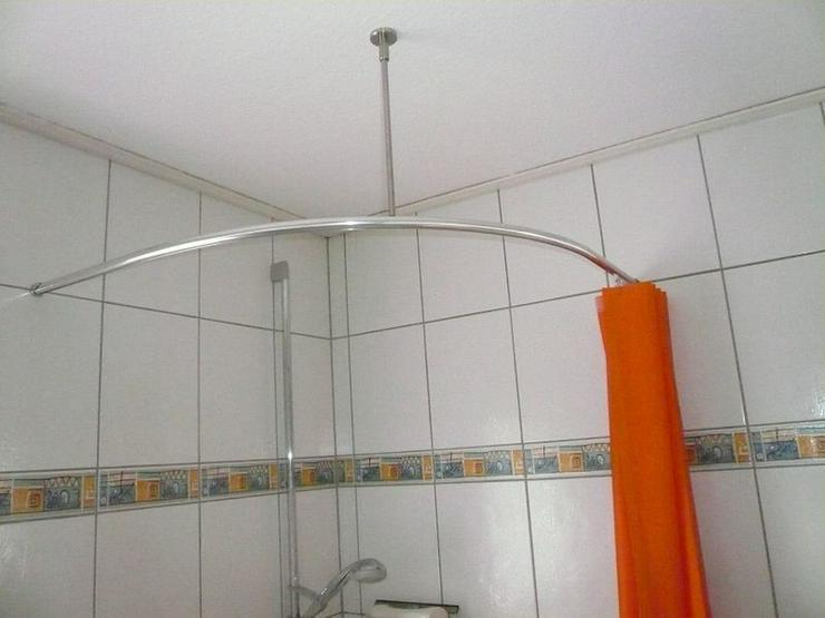 Duschvorhangstange für Viertelkreis aus Aluminm