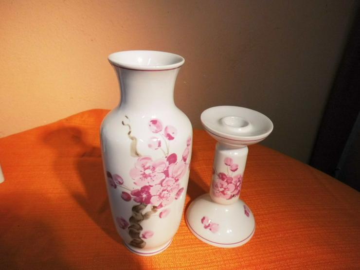 Bild 2: Vase + Kerzenständer Aelteste Volkstedter Porz