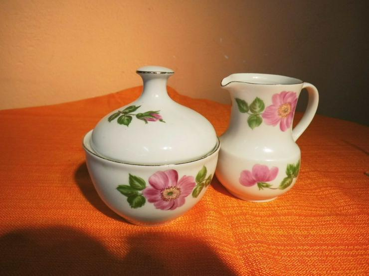 KAHLA Porzellan Milchkännchen und Zuckerdose m - Kaffeegeschirr & Teegeschirr - Bild 1