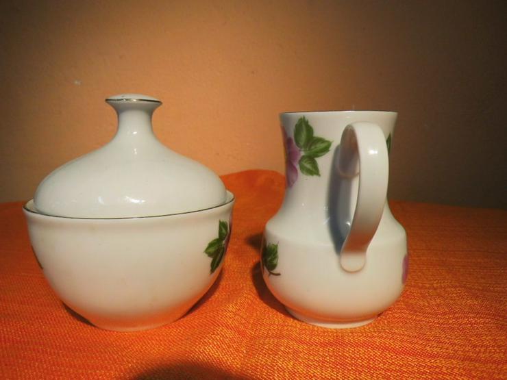 Bild 3: KAHLA Porzellan Milchkännchen und Zuckerdose m