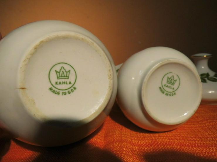 Bild 6: KAHLA Porzellan Milchkännchen und Zuckerdose m
