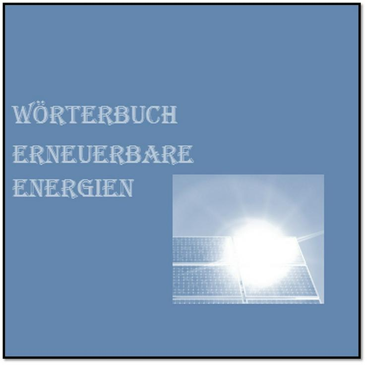 german-english dictionary renewable energy - Wörterbücher - Bild 1