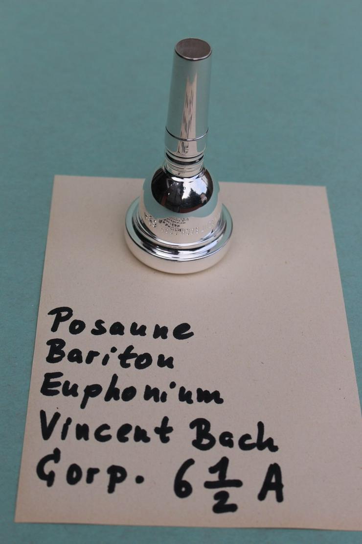 Posaune, Bariton Mundstück Vincent Bach 6 1/2 A - Bild 1