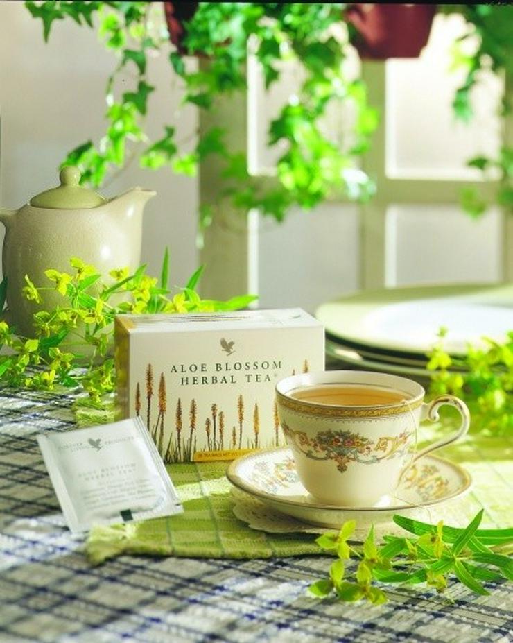 Bild 4: TEATIME mit Forever Aloe Blossom Herbal Tea® - mit 15% Rabatt oder Staffelpreisen - Versand:portofrei