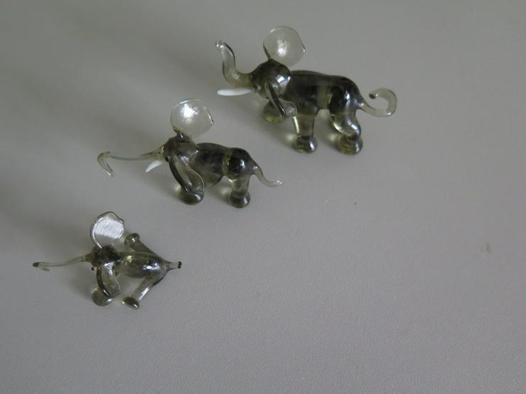 3 Stck Tierfiguren - Glasfiguren - Elefanten