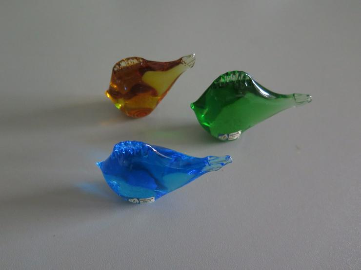3 Tierfiguren Glasfisch - LINDSHAMMAR Sweden