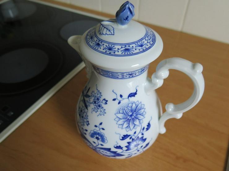 Hutschenreuth. Kaffeeservice Zwiebelmuster blau