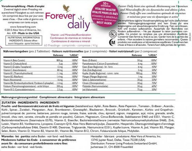 Bild 4: Forever daily™ - Vitamine & Mineralstoffe mit 15% Rabatt