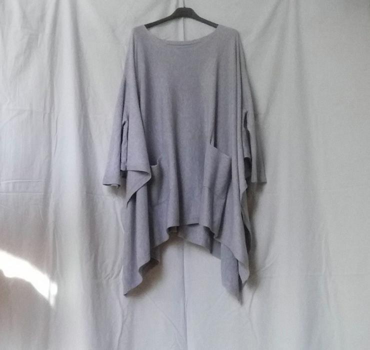 Mädchen Damen Poncho Cape Hellgrau-One Size-NEU