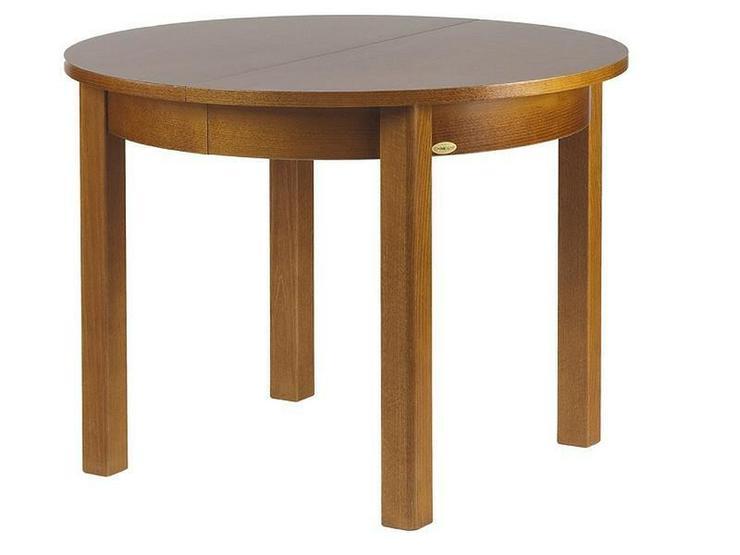 4-Fuß-Esstisch, 100 cm, rund, mit 2 Einlagen, - Bild 1