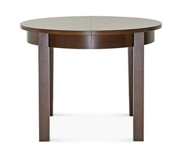 Bild 4: 4-Fuß-Esstisch, 100 cm, rund, mit 2 Einlagen,