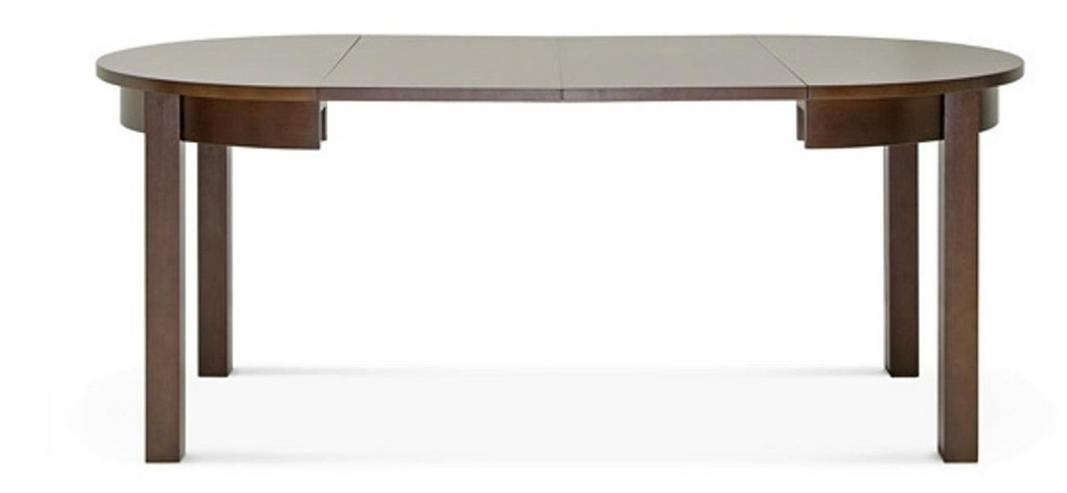 Bild 5: 4-Fuß-Esstisch, 100 cm, rund, mit 2 Einlagen,