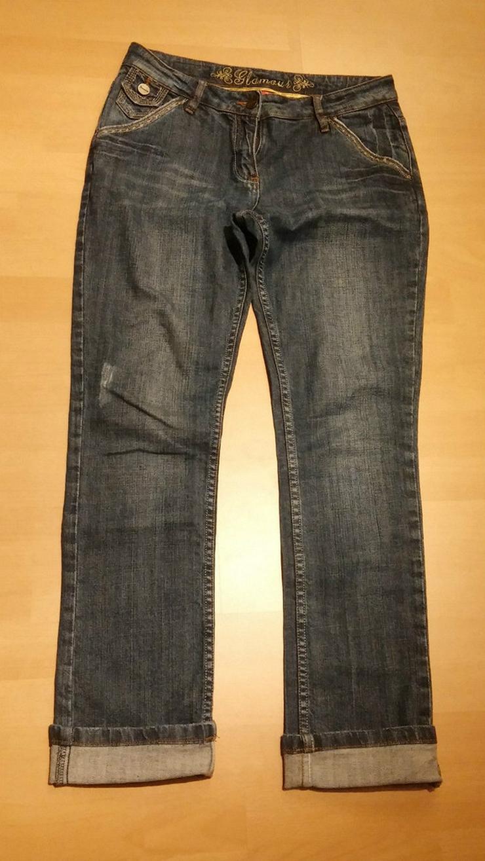Damen Jeans Hose GLAMOUR Gr. 38 in Blau