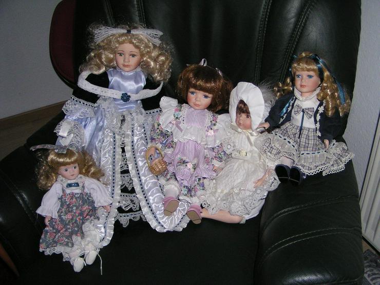 5 Porzellan Puppen aus Omas Sammlung 29-45 cm