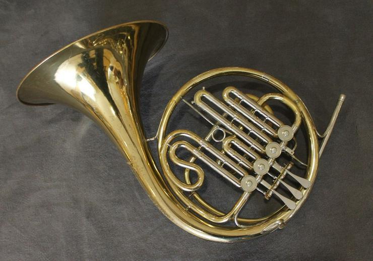 Meister Hans Hoyer B - Waldhorn inkl. Koffer - Blasinstrumente - Bild 1
