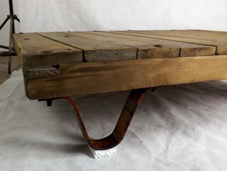 Bild 7: Couchtisch Loft Rollpalette Palettenrollwagen