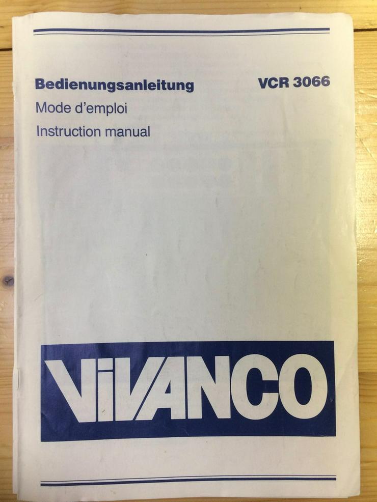 Bild 3: Vivanco VCR 3066