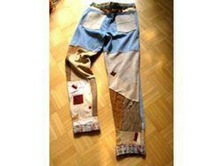 Jeans/ Lederhose - W33-W35 / 48-50 / M - Bild 1