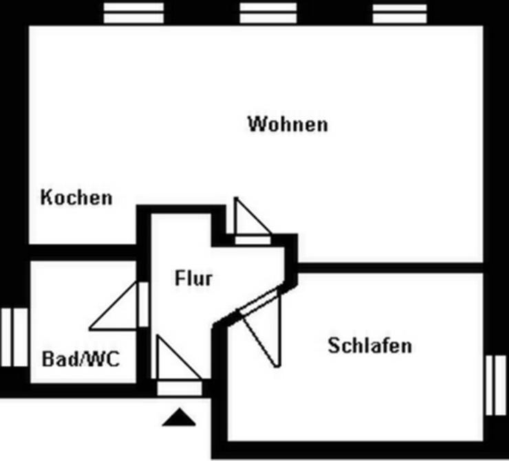 Bild 2: 2-Raum-Wohnung im Stadtzentrum!