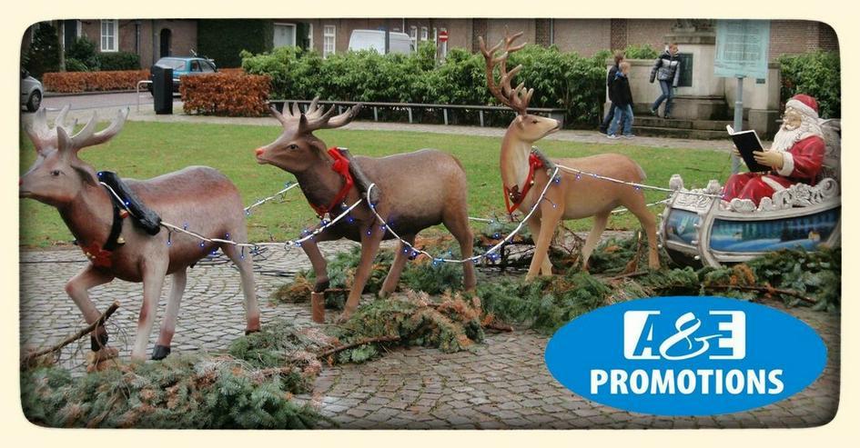 weihnachts deko verleih schlitten rentieren usw
