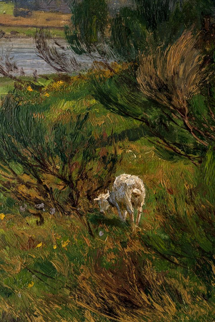 Bild 2: Gemälde WILHELM FRITZEL (1870), Ziegen am Rhein