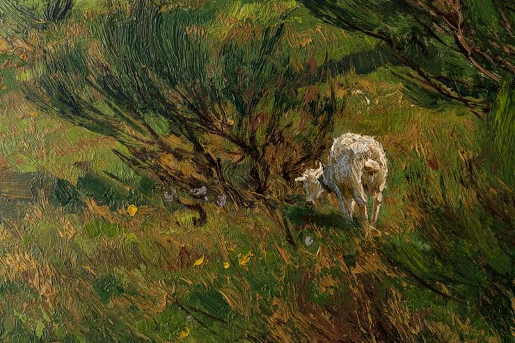 Bild 3: Gemälde WILHELM FRITZEL (1870), Ziegen am Rhein