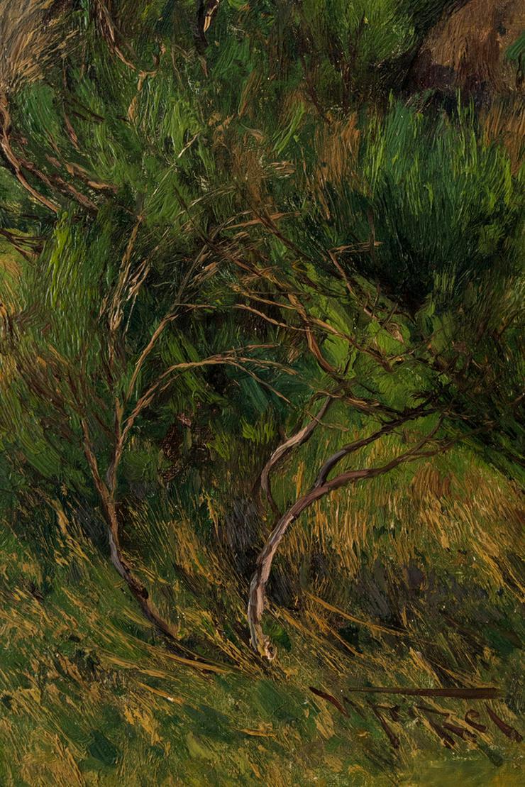 Bild 4: Gemälde WILHELM FRITZEL (1870), Ziegen am Rhein