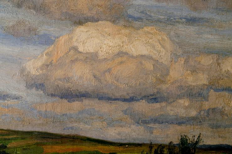 Bild 5: Gemälde WILHELM FRITZEL (1870), Ziegen am Rhein