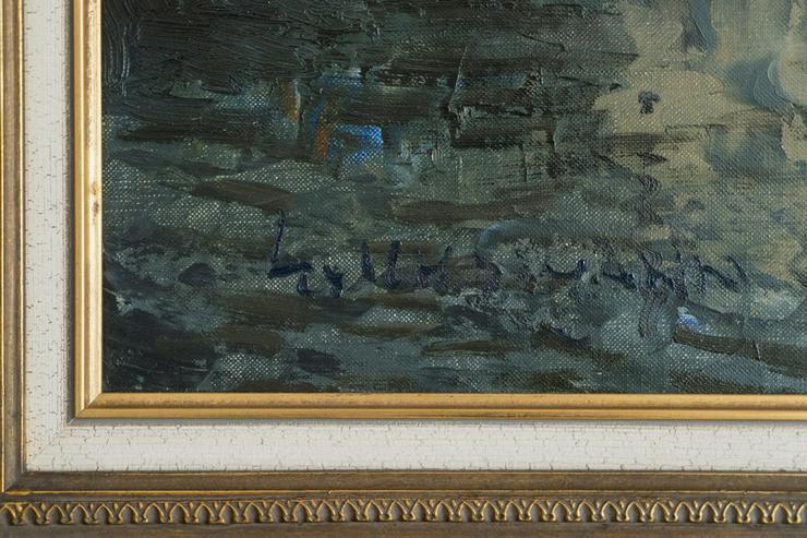 Bild 5: Gemälde LUDWIG GSCHOSMANN, Boote in La Spezia!