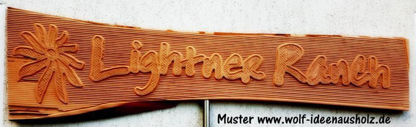 rustikale Holzschilder