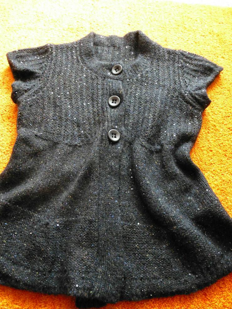 Damen Jacke strick Gr.38 Schwarz