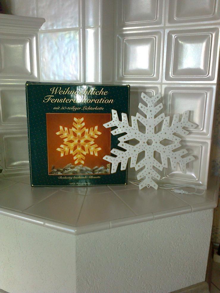 Fensterdekoration - Weihnachtsstern - neu