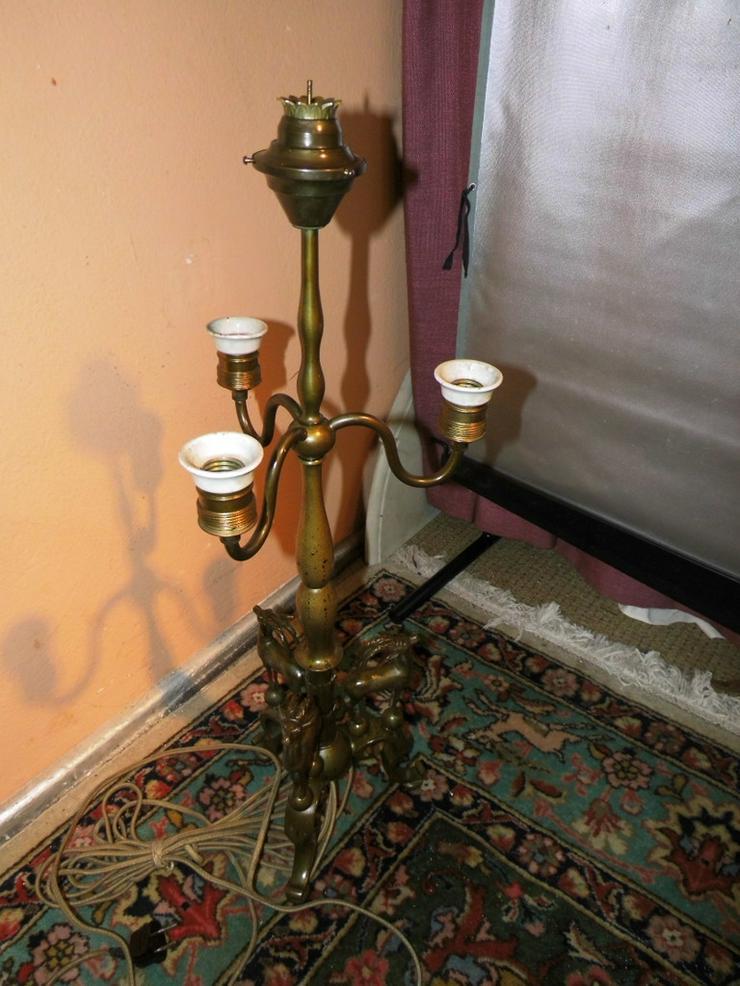 Antike Tischlampe aus Messing / Jugendstil Lam