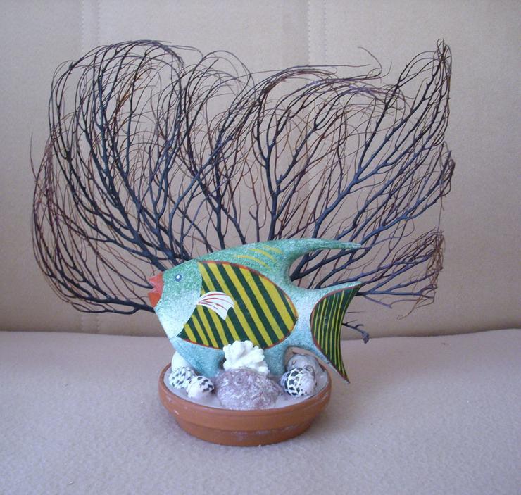 Fächerkoralle mit Holzfisch