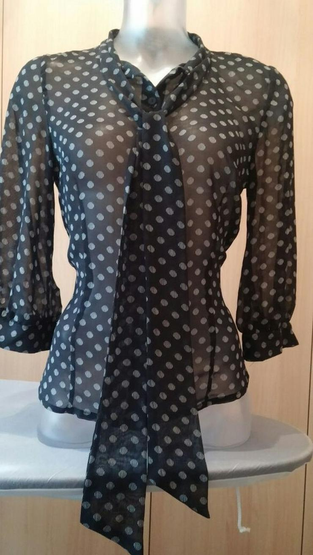 Damen Bluse modern leiht Gepunktet Gr. 36 H&M