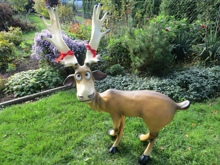 Rentier Rudi Dekofigur zu Weihnachten