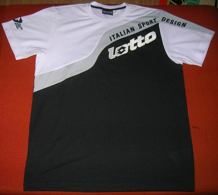 Herren Shirt Lotto Schwarz & Weiss Größe M - Größen 48-50 / M - Bild 1