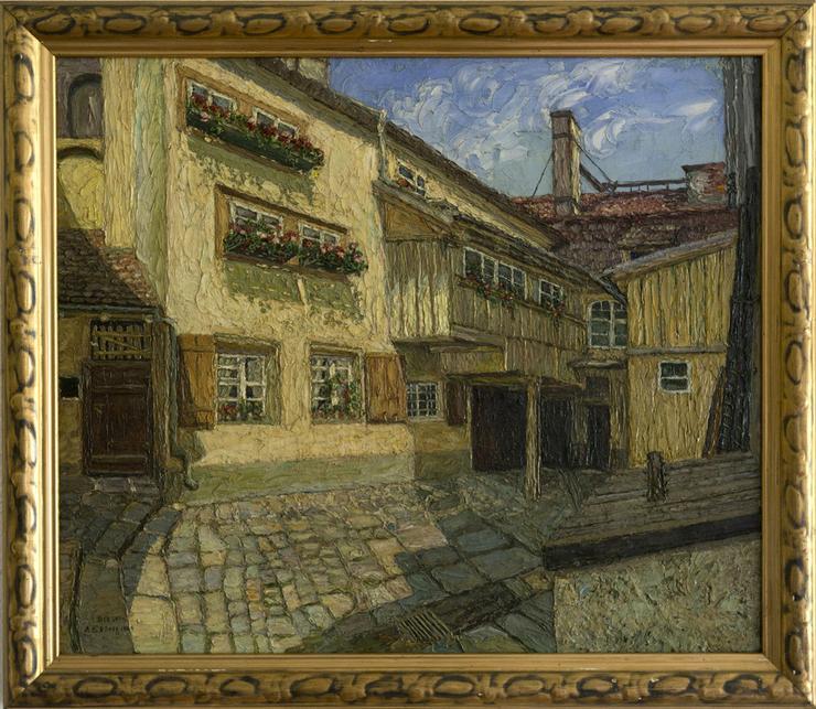 Gemälde ALMA EKBERG, Hof in Dresden 1904!!