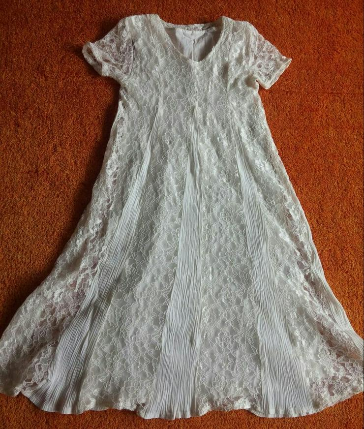 Mädchen Kleid Unterkleid Gr.140 in Creme