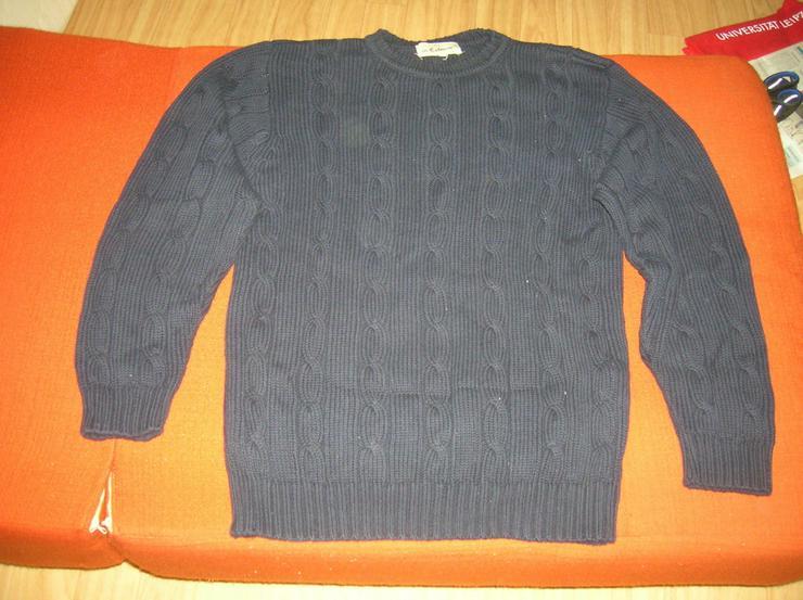Herren Super Pullover marineblau aus Wollen