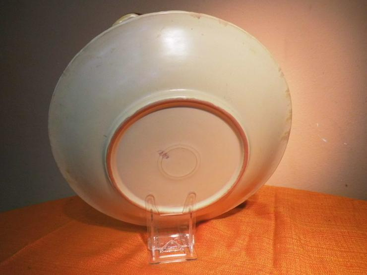 Bild 5: Große Obstschale aus Keramik, Motiv Kirschen /