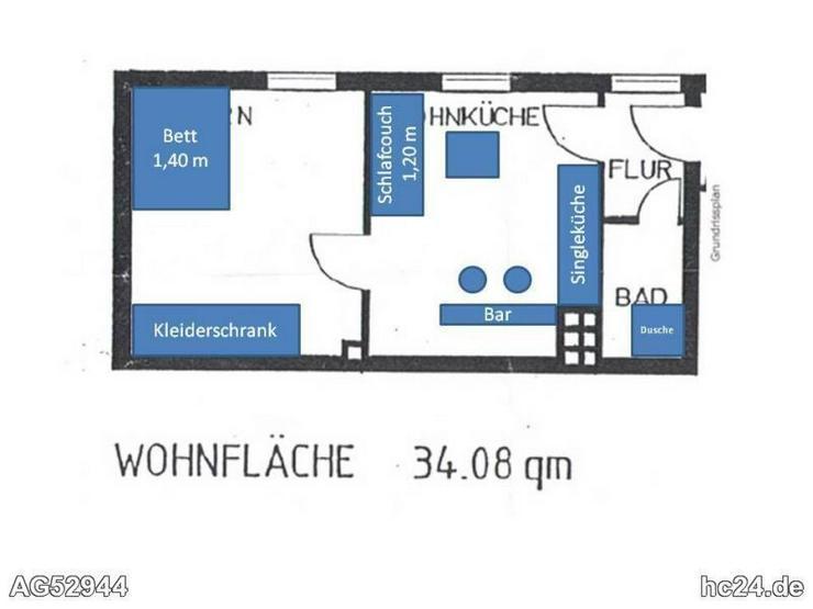 *** möblierte 2 Zimmerwohnung in Neu-Ulm - Bild 1